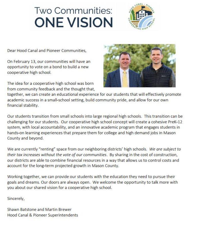 Message from the Superintendents